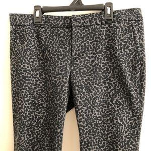 Banana Republic animal print dress ankle pants. 8P